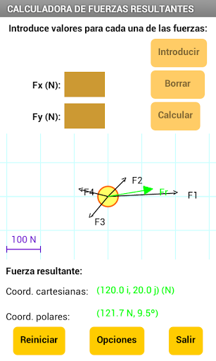 Fuerza Resultante screenshot