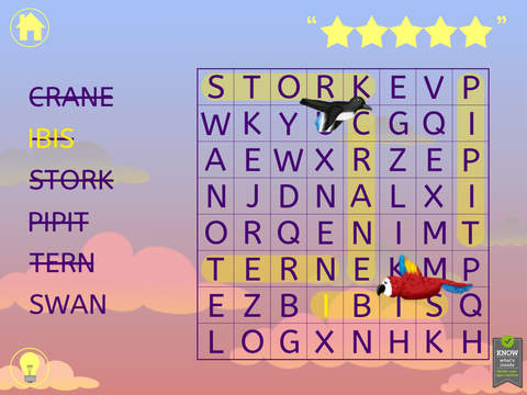Kids Word Search Lite - Word Find Puzzle for Kindergarten, First, and Second Grade for English Learning screenshot