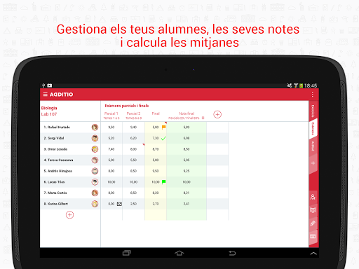 Cuaderno del Profesor Additio screenshot