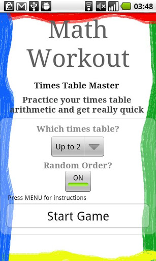 Math Workout screenshot