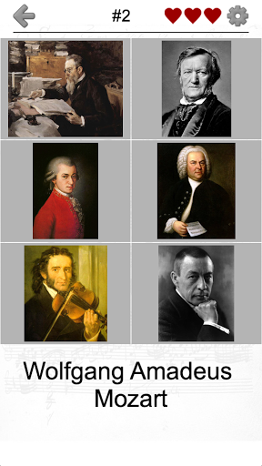 Famous Composers of Classical Music: Portrait Quiz screenshot