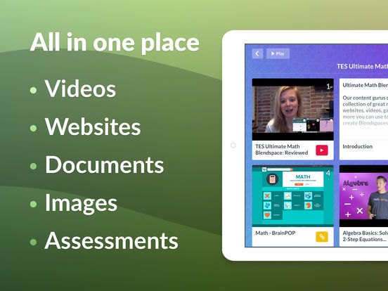 TES Teach with Blendspace - Lesson Resources screenshot