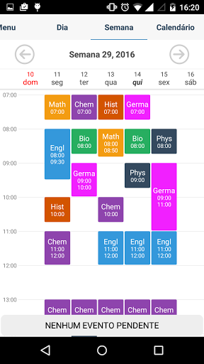 Student Agenda screenshot