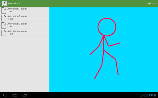 Stickfigure Animator screenshot