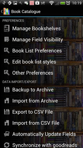 Book Catalogue screenshot