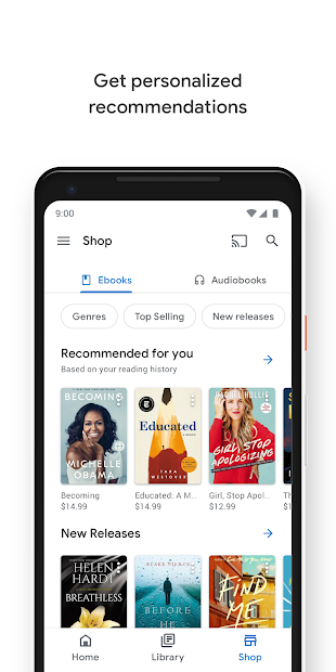 Google Play Books - Ebooks, Audiobooks, and Comics screenshot