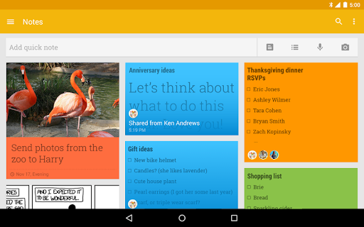 Google Keep: notes i llistes screenshot