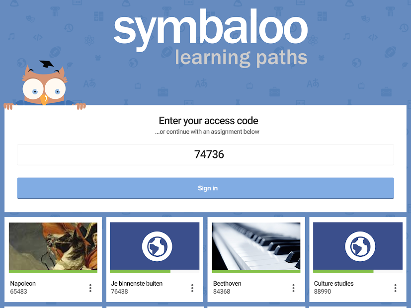 Symbaloo Learning Paths screenshot