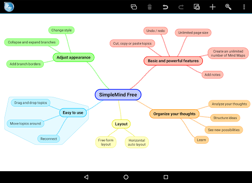 SimpleMind Free mind mapping screenshot