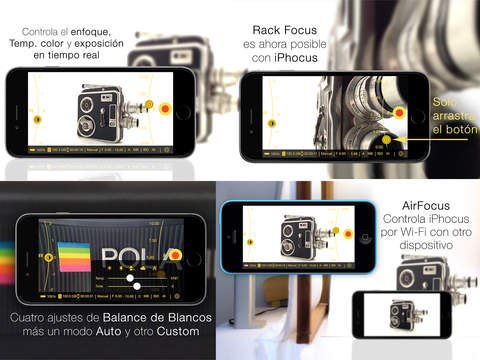 iPhocus - Manual camcorder - Focus, Exposure, ISO and White Balance controls for your videos like in a DSLR screenshot