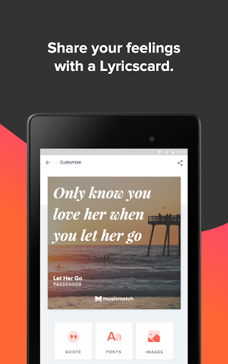 Musixmatch music & lyrics screenshot