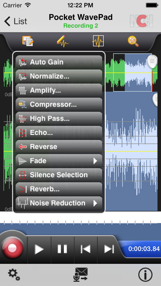 WavePad Audio Editor Free screenshot