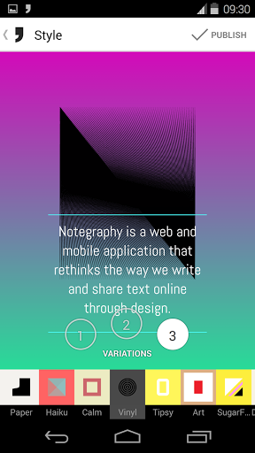 Notegraphy screenshot
