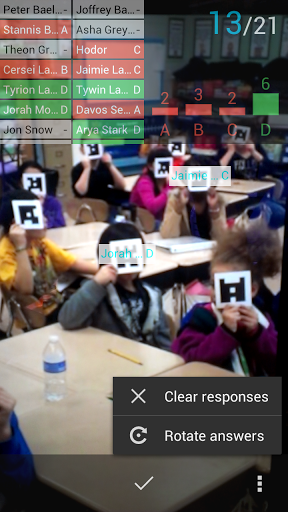 Plickers screenshot
