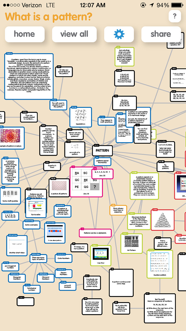 Popplet Lite screenshot