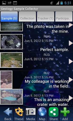 Geology Sample Collector screenshot
