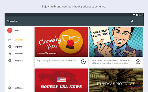 Spreaker Podcast Radio screenshot