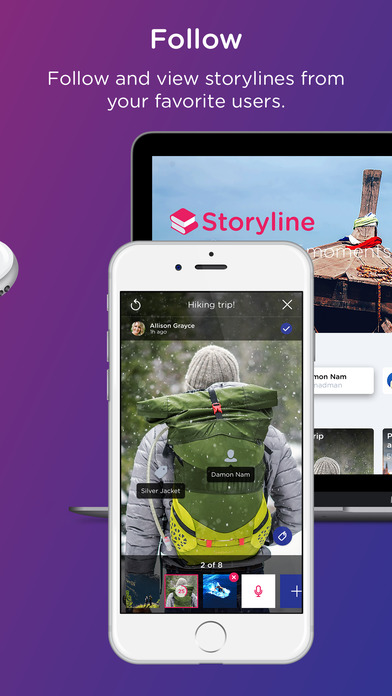 Storyline: Group Stories - Audio, Photo, and Video screenshot