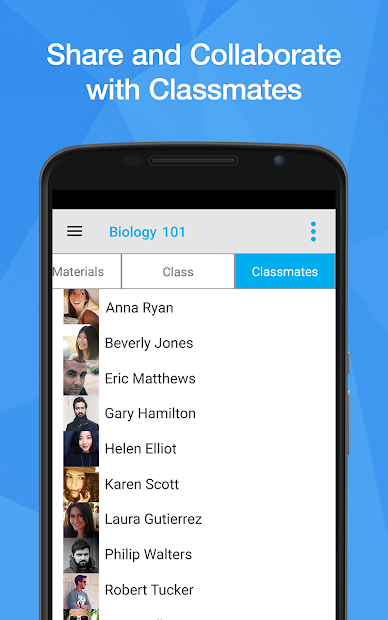 StudyBlue for large tablets screenshot