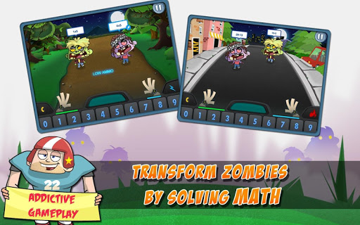 Math Vs Zombies Free screenshot