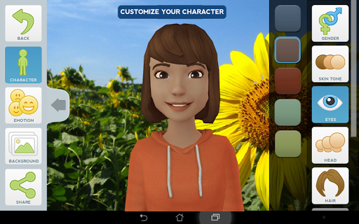 Tellagami screenshot