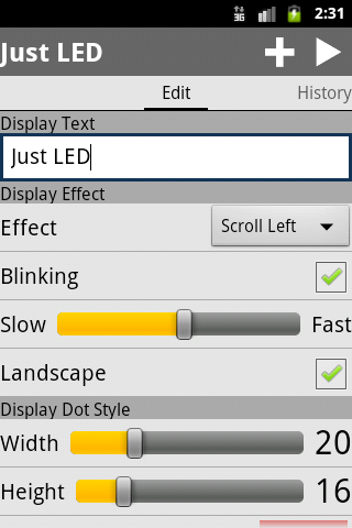 Just LED Display screenshot