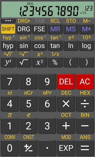 RealCalc Scientific Calculator screenshot