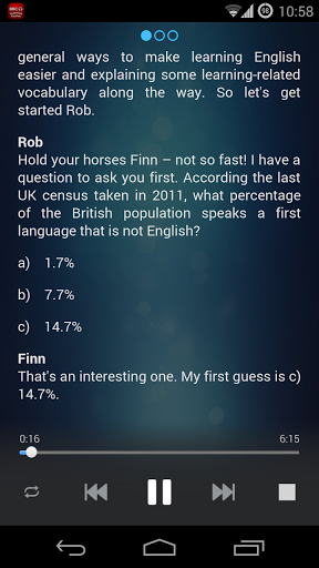 6 minute English Listening screenshot